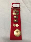 Victorian Bar Pin, 2 Pr. Cuff Links, 2 Victorian Charms, Locket