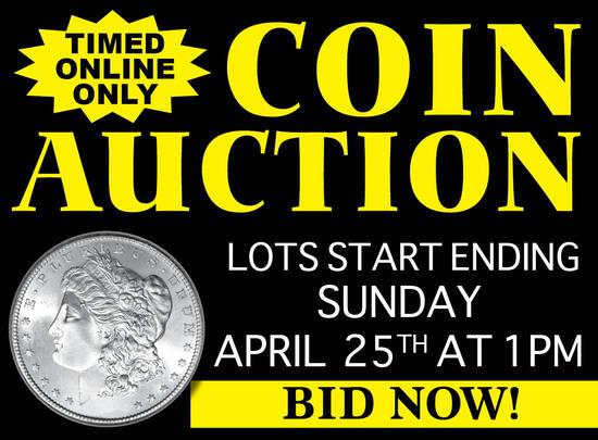 Large Online Coin Auction (April 25th)