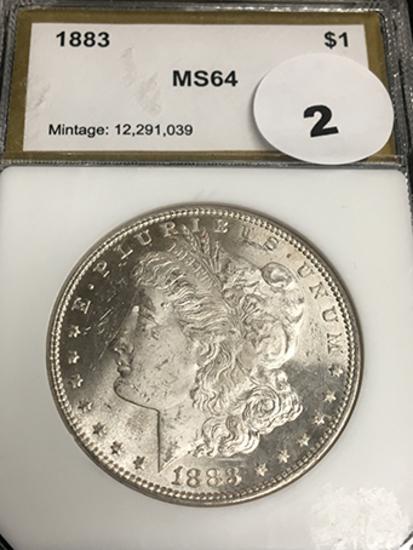 1883 Morgan MS64