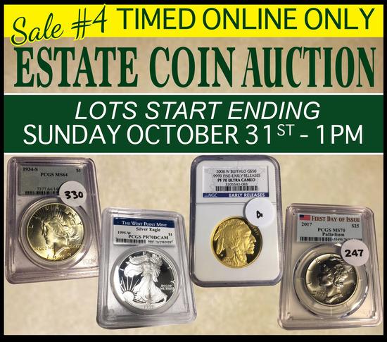 Extraordinary Estate Coin Auction - Sale #4