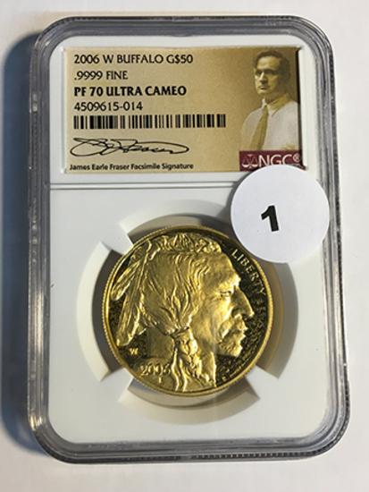 2006-W Buffalo $50 Gold NGC PF70 Ultra Cameo
