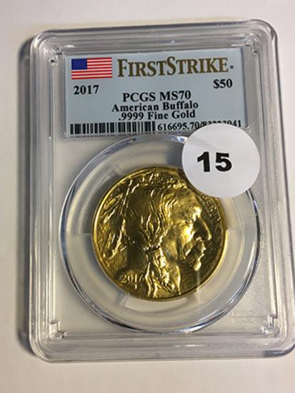 2017 Buffalo $50 Gold First Strike PCGS MS70