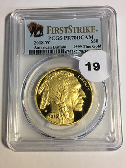 2018-W Buffalo $50 Gold First Strike PCGS PR70DCAM