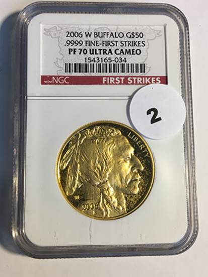 2006-W Buffalo $50 Gold NGC First Strike PF70 Ultra Cameo