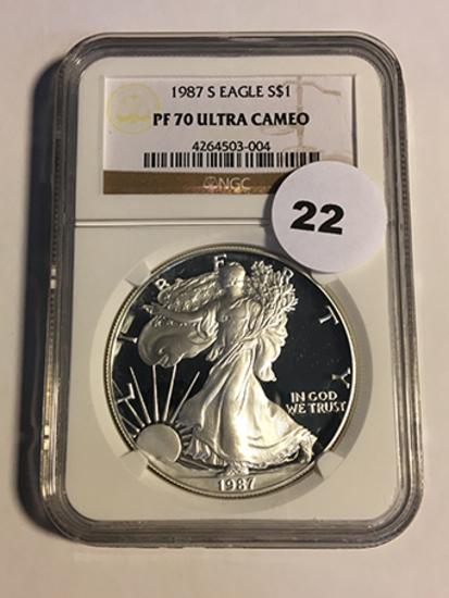 1987-S Silver Eagle NGC PF70 Ultra Cameo