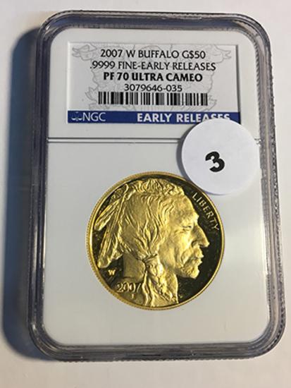 2007-W Buffalo $50 Gold NGC Early Release PF70 Ultra Cameo