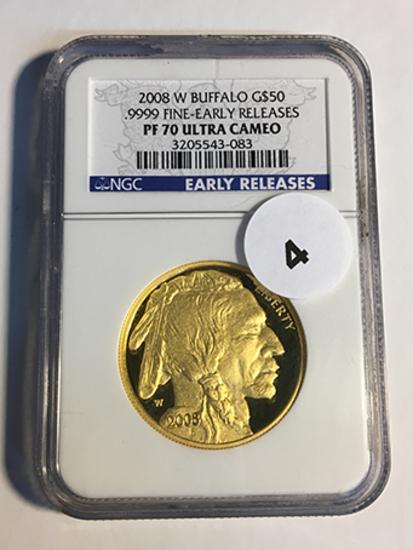 2008-W Buffalo $50 Gold NGC Early Release PF70 Ultra Cameo