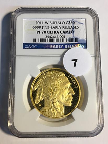 2011-W Buffalo $50 Gold NGC Early Release PF70 Ultra Cameo
