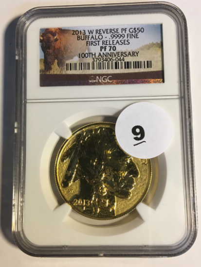 2013-W 100th Anniversary Reverse PF Buffalo $50 Gold NGC First Release PF70