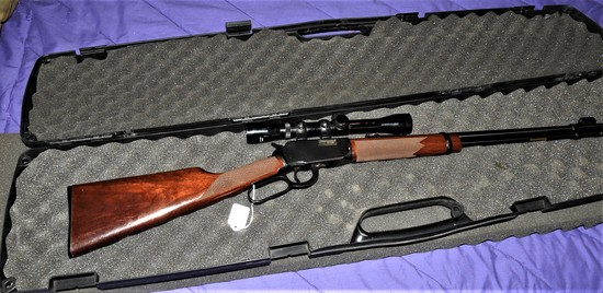 Winchester Lever Action 22 Mag 9422M XTR rifle with scope