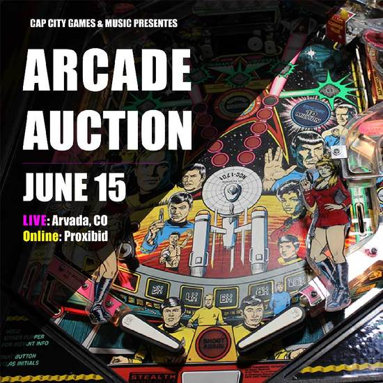 Awesome Arcade Auction in Arvada, CO