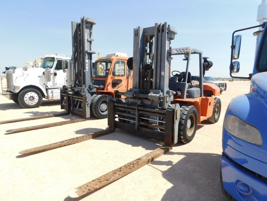 1998 HELI FD220 FORKLIFT, 15' LIFTING HEIGHT, 8' FORKS, HYDRAULIC SIDE SHIF