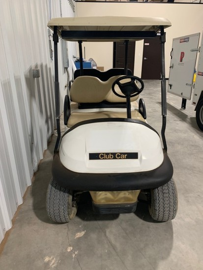 CLUB CAR 4-SEAT GOLF CART SN: PQ0823-911319 W/ FOLDING REAR SEAT, NEW BATTE