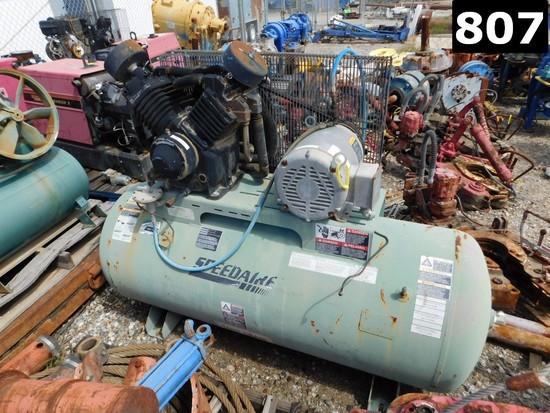 SPEEDAIRE MODEL 1WD74 AIR COMPRESSOR P/B ELECTRIC MOTOR W/ 80 GAL VOLUME TA