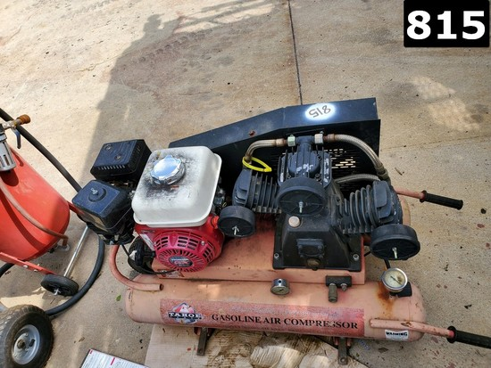TAHOE AIR COMPRESSOR P/B HONDA GX200 GAS ENGINE (11293549) LOCATED IN YARD