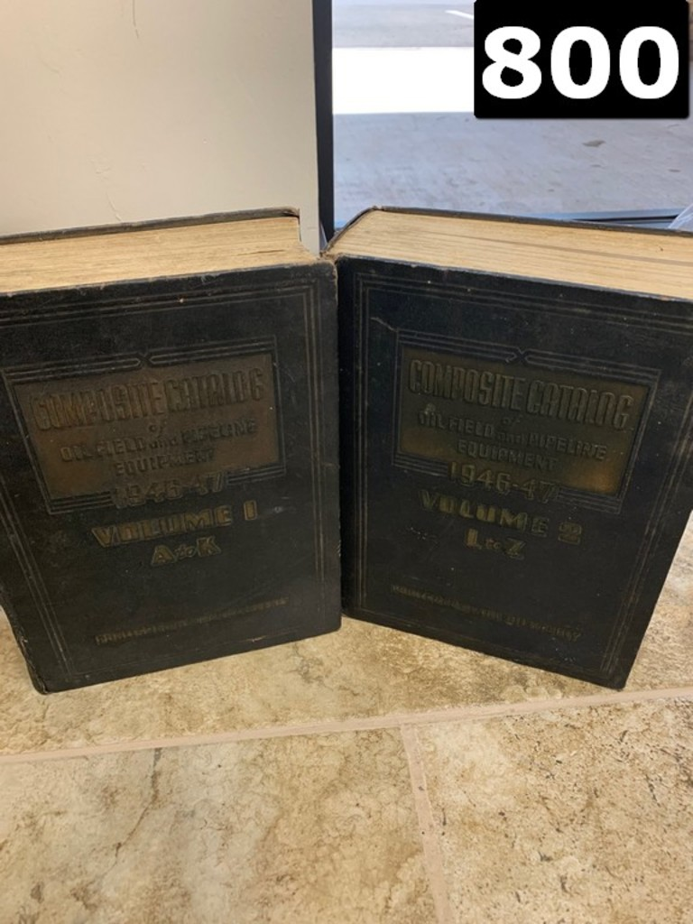 1946-1947 COMPOSITE CATALOG OF OILFIELD AND PIPELINE EQUIPMENT. VOL. 1 &2 A