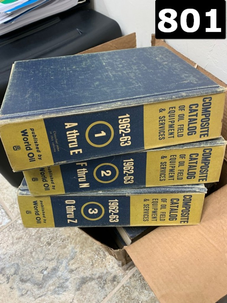 1963-1963 COMPOSITE CATALOG OF OILFIELD AND PIPELINE EQUIPMENT VOL. 1,2&3 A