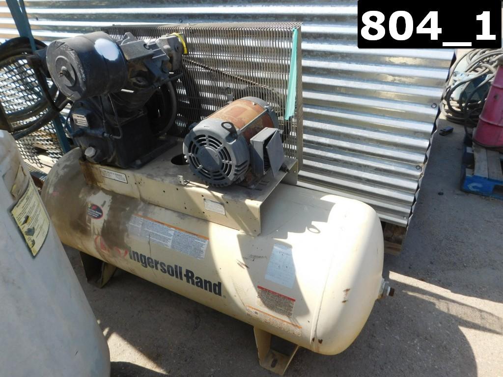 INGERSOLL RAND MODEL 2545 AIR COMPRESSOR P/B ELECTRIC MOTOR W/ 80 GAL VOLUM