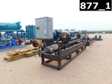 EXTERNAL & ROTATING PIPE CLEANER MTD ON 4' H X 12' L SKID P/B 5 HP ELECTRIC