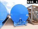 10' DIA X 35'L, 500BBL WATER TANK W/ 9'L PORCH EXT, (2) 3X4 CENT PUMPS, P/B