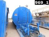 10'DIA X 40'L 500BBL WATER TANK W/ 9'L PORCH (2) 3X4 CENT PUMPS P/B 25HP EL