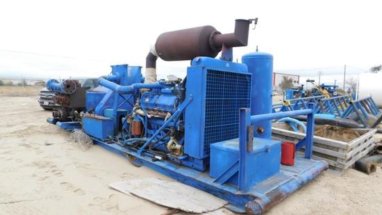 (0371888) GARDNER DENVER PZ-7 TRIPLEX PUMP, 500BHP, PULSATION DAMPENER, MUD GAUGE, FUEL TANK, AIR