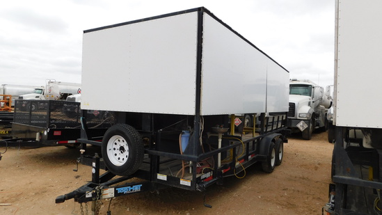 (X) (3465) 2013 TOP HAT INDUSTRIES 7'W X 20'L T/A COOLING TRAILER, VIN- 4R7