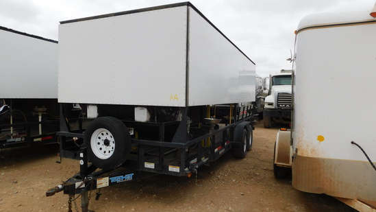 (X) (3466) 2012 TOP HAT INDUSTRIES 7'W X 20'L T/A COOLING TRAILER, VIN- 4R7