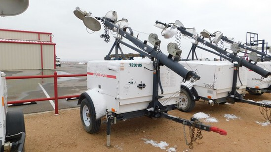 Located in Midland, TX - YARD 1 (8296) 2012 MAGNUM 6KW 4 BULB S/A LIGHT TOWER PA