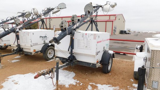 Located in Midland, TX - YARD 1 (8298) 2012 MAGNUM 6KW 4 BULB S/A LIGHT TOWER PA