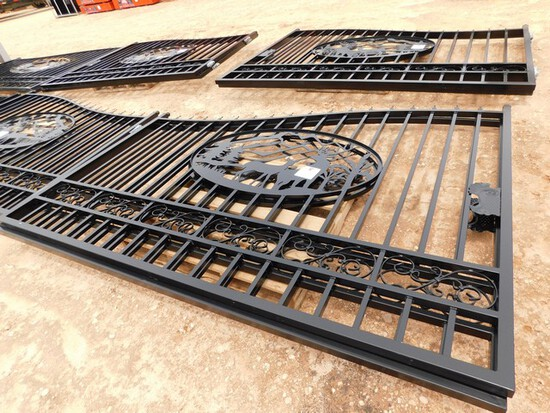 UNUSED 20' BI PARTING WROUGHT IRON GATE  Located in YARD1 Midland, TX
