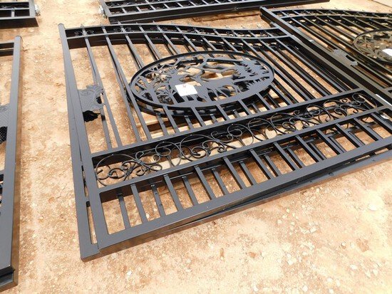 UNUSED 14' BI PARTING WROUGHT IRON GATE  Located in YARD1 Midland, TX