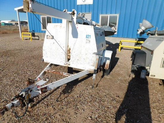 (5440) CAT ALLMOND 6 KW LIGHT TOWER, P/B 2 CYL DIESEL ENGINE, ELECTRIC WINCH, MT