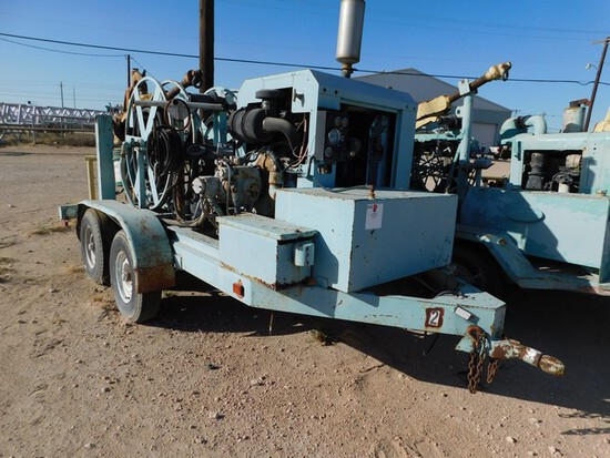 (003) BOWEN 2.5 POWER SWIVEL P/B PERKINS 4 CYL TURBO DIESEL ENGINE, HYD PUMP, (2