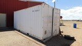 (3880) SAGE OIL VAC 20' OIL SHED W/ 250 GAL NEW PRODUCT TANK, 250 GAL USED OIL T