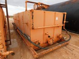 7'W X 5'H X 18'L REVERSE CIRCULATING TANK W/ GAS BUSTER (NOTE: HAS APPROX 2' OF