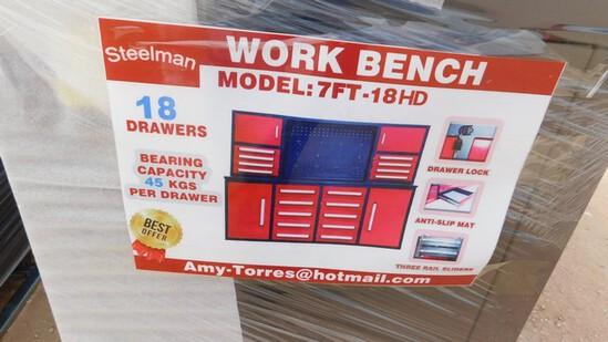 Located in YARD 1 Midland, TX - Shawn Johnson 432-269-0225 UNUSED7' WORKBENCH W/