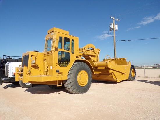 (0001) CAT 631 OPEN SCRAPER BOWL MOTOR SCRAPER S#DB00238, P/B CAT 3408E 515HP, 8
