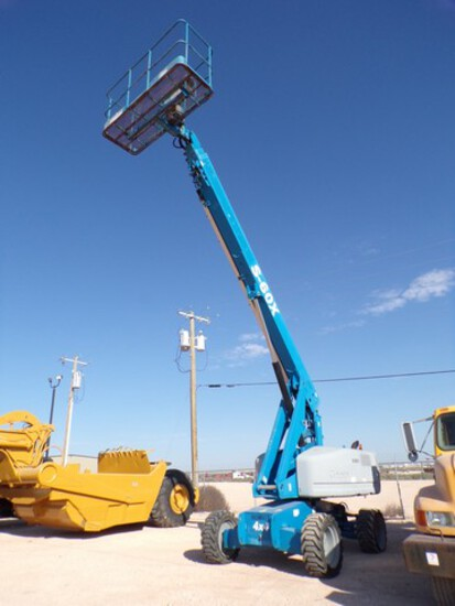 GENIE S60 MANLIFT, 45' MAX BOOM LENGTH, 4X4, SHOWS 3389 HRSLocated in YARD 1 - M