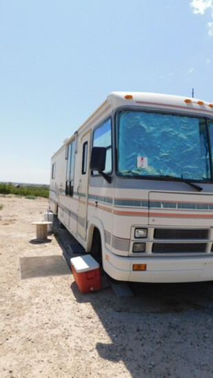 1995 FLAIR BY FLEETWOOD MOTOR HOME 33'L, P/B 454 GAS ENGINE, AUTO TRANS., SN-527
