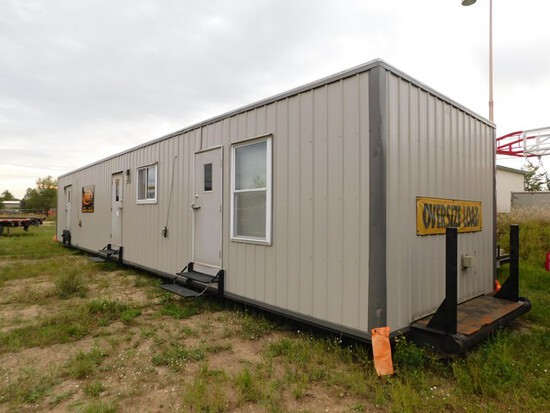 (MI-0368) 12'W X 56'L CREW HOUSE, 2 BEDROOM 2 BATH, KITCHEN, LIVING AREA, APPLIA