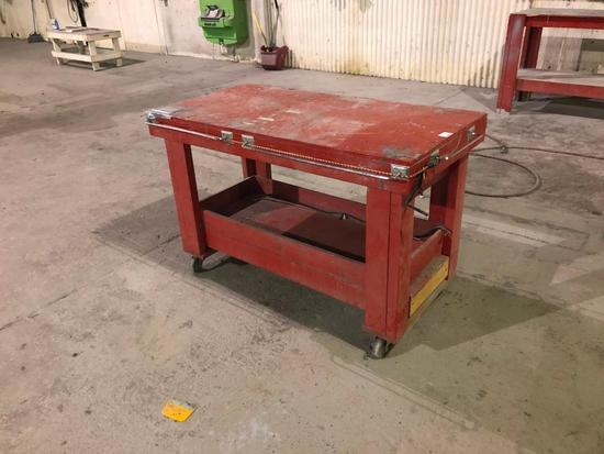Mechanic Work Table with Opening Table