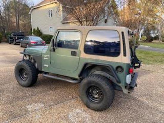 2000 Jeep Wrangler Multipurpose Vehicle (MPV), VIN # 1J4FA49S8YP717245