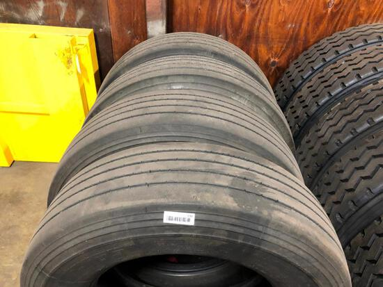 4 295/75R22.5 UNMOUNTED TIRES