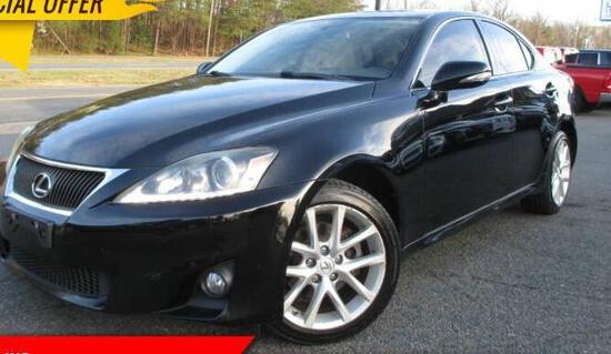 2011 Lexus IS 250 Passenger Car, VIN # JTHCF5C22B5044933