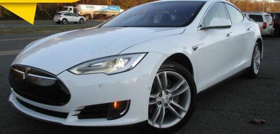 2014 Tesla Model S Passenger Car, VIN # 5YJSA1H13EFP53037