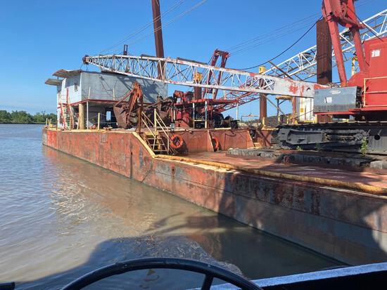 Spud Barge with Manitowoc 4600 Crane