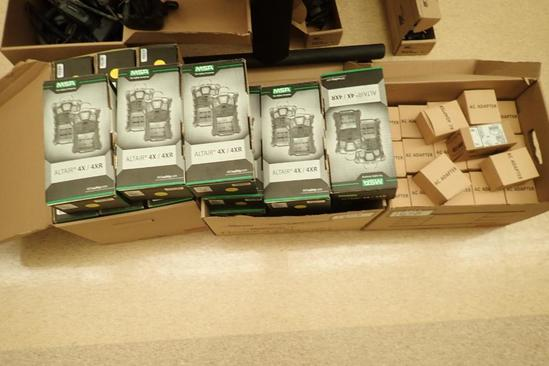 Lot of 19 MSA Altair 4XR Personal Gas Monitors and Asst. AC Adapaters.