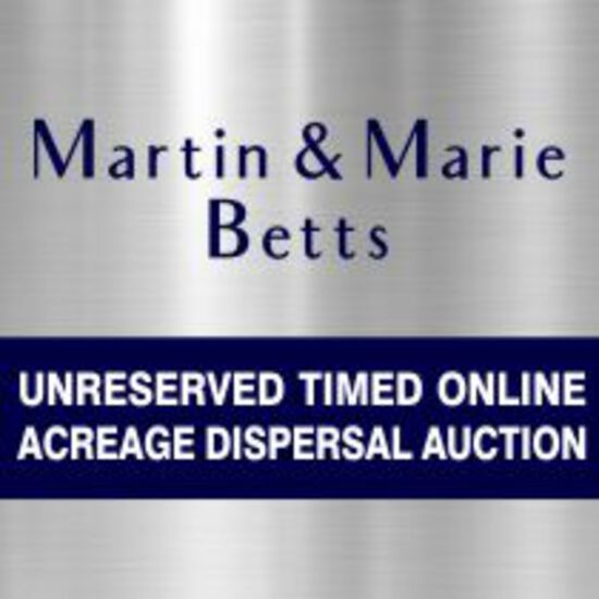 Acreage Dispersal Auction for Martin & Marie Betts