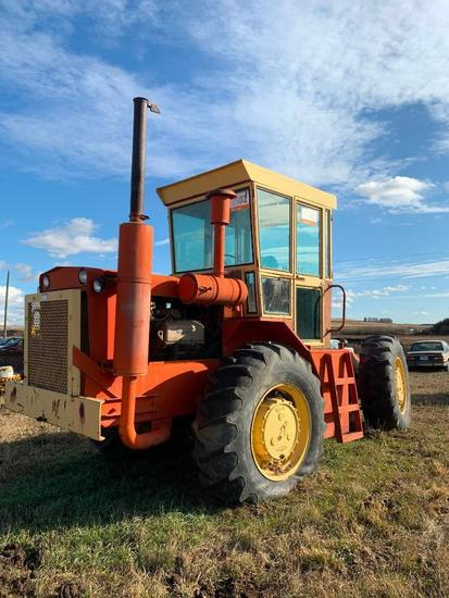 Versatile 1111 Tractor. 18.4-30 Tires, Showing 6,843hrs. SN 4708. **NOT RUNNING**